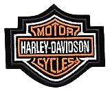 #4: Harley-Davidson Orange Bar & Shield Patch XS 3'' x 2 1/2'' EMB302381