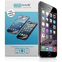 Yousave Accessories® iPhone 6 Plus Schutzfolie Packung von 3 Displayschutzfolie