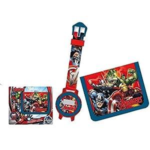 Reloj niño Avengers Iron Man Hulk Capitán América Marvel Comics Plus cartera marca marvel