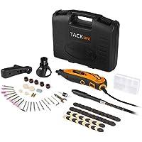 Tacklife RTD35ACL Avancé Outil Rotatif Electrique 135W /Sculpter /Découper /Polir /Contrôle de Profondeur /80 Accessoires /3 Attachements /Conception Aérodynamique
