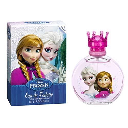 Air Val Disney Frozen Die Eiskönigin Kinder-Parfüm im Glas-Flakon mit Krönchen-Verschluss, 1er Pack (1 x 100 ml) - Absolute Parfüm
