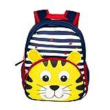 Yeelan impermeabile Toddler zaino scuola materna banda Kid Bag per scuola materna scuola materna viaggio ecc (Tiger)