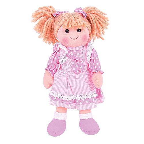 Bigjigs Toys 33cm Puppe Anna–Soft Body Plüsch Spielzeug Puppe mit Haar und Outfit