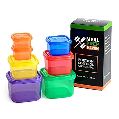 Meal Prep Haven 7 Piece Portion Control Container Kit with
