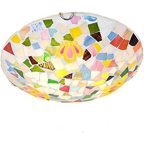 KMDJ Grazioso mosaico camera dei bambini Apparecchi da soffitto Creative corona piccola ragazza camera della lampada da soffitto balcone luci a soffitto
