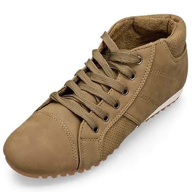MQ23 Damen bequeme Sneakers mit Schnürung KD-2088 Khaki Gr. 41