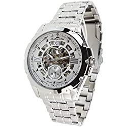 Lindberg&Sons - SK14H027 - wrist watch for men - skeleton - automatic movement - analog display - stainless steel bracelet