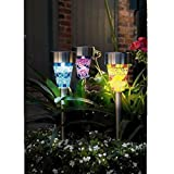 6Pcs Solar Garten Beleuchtung, TechCode® Solarbetriebene Gartenleuchten, Perfektes Neutrales Design; Ideal für Garten