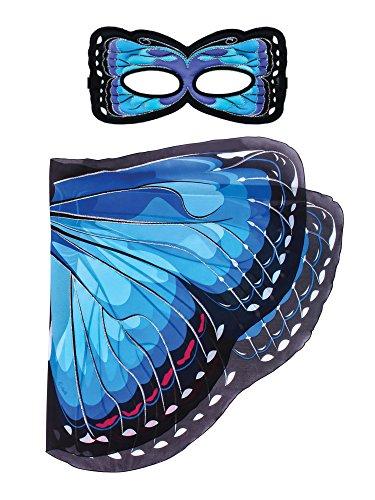 Dreamy dress-ups 662852-Spielset: Flügel + Maske, blau Morpho (Dress Kostüme Wings)