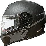 VIPER RS-V8 STEREO PRIME SPEAKERS PHONE JACK RADIO FULL FACE MOTORCYCLE MOTORBIKE HELMET ATTITUDE MATT BLACK L