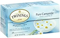 Twinings Herbal Tea, Pure Chamomile, 25 Count Bagged Tea (6 Pack)