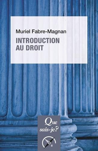 Introduction au droit par Muriel Fabre-Magnan