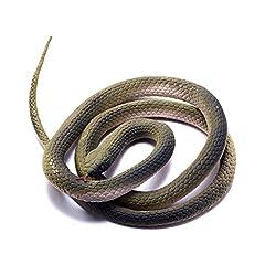 Idea Regalo - Giocattolo Serpente a Sonagli per Scherzo come Pesce d'Aprile Regalo di Halloween Decorazioni Accessori Serpente di plastica di gomma FUNLAVIE