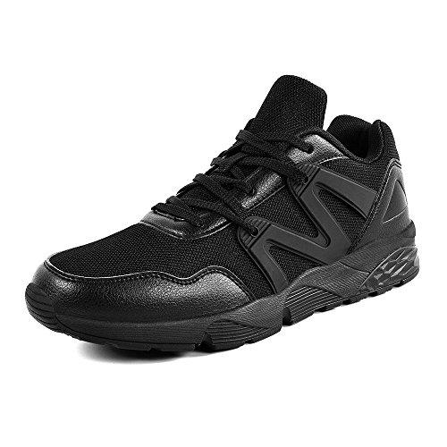 QANSI Uomo Scarpe Confortevoli da Corsa Sneakers Sportivi Leggeri Scarpe da Ginnastica Nero2