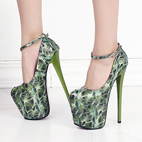 Centimetri verde No Sandali Donna 19 Fereshte 1282 UwOnZv4xqB