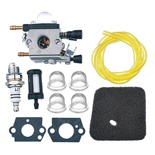 OuyFilters Carburetor with Gaskets Air Filter Fuel Filter Spark Plug Primer Blubs Replaces ZAMA C1Q-S68G for Stihl BG45 BG46 BG55 BG65 BG85