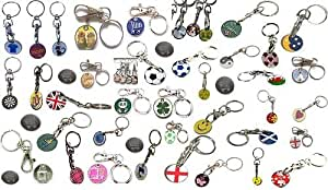 12 mixed shopping trolley coin token keyrings.gym lockers,prizes