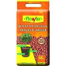 Flower 90205 - Bolas de arcilla expandida, 28 x 7 x 35 cm, color rojo