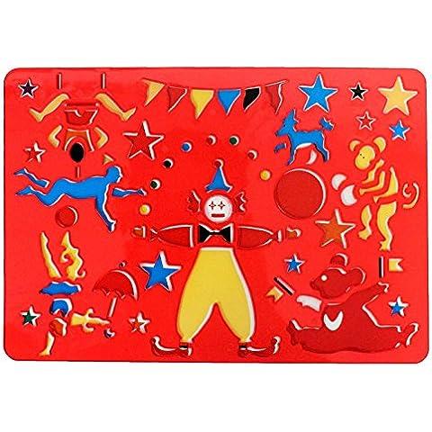 Pampy - Plantilla roja de plástico infantil