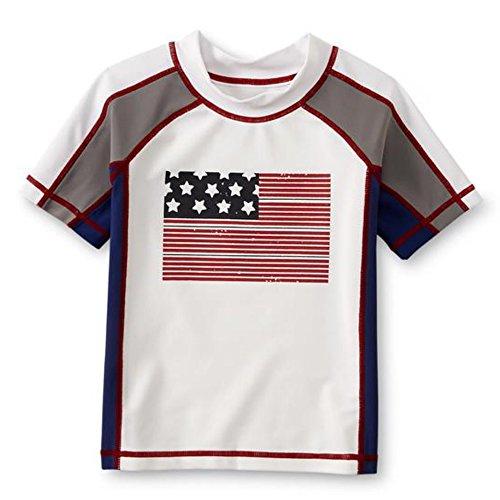 Wonder Bambini Protezione Solare UF50galleggiante T Shirt ragazzo USA bandiera 110