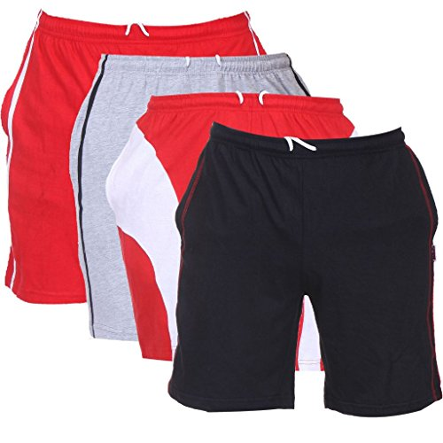TeesTadka Men's Knitted Shorts Combo Offers Pack of 4