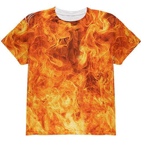 m Halloween auf der ganzen Jugend T Shirt Multi YSM (Auf Feuer Halloween Kostüm)
