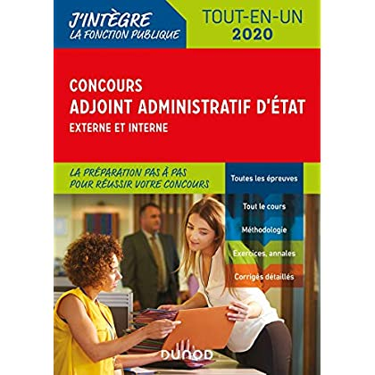 Concours Adjoint administratif d'Etat - 2020 - Externe et interne - Tout-en-un