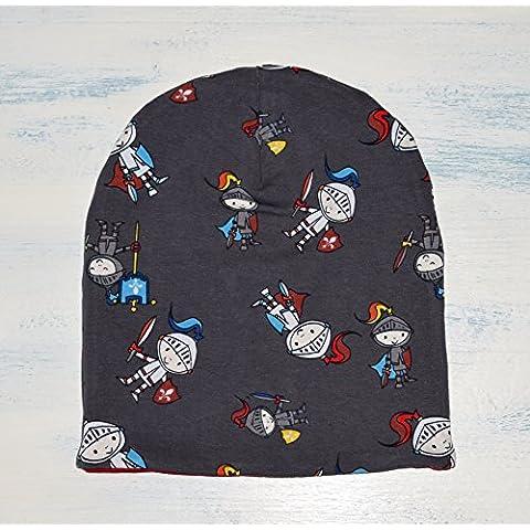 Gorro Reversible de Algodón en talla desde Recién Nacido hasta los 10 años, Gorro tipo Hipster con estampado de Caballeros, con tela de color rojo en el interior, hecho a mano, es un regalo ideal para esta