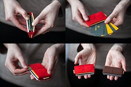 Elephant Wallet E8 mini Geldbörse kleines Portemonnaie small Portmonee Minimalisten Kartenhalter präsentiert von becoda24 in versch. Farben (Grün) Braun