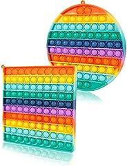 Big Size Push Pop it Fidget Toy, 265Bubbles 11.8Inch 300mm Popular Stress Relieving Fidget Game for Kids