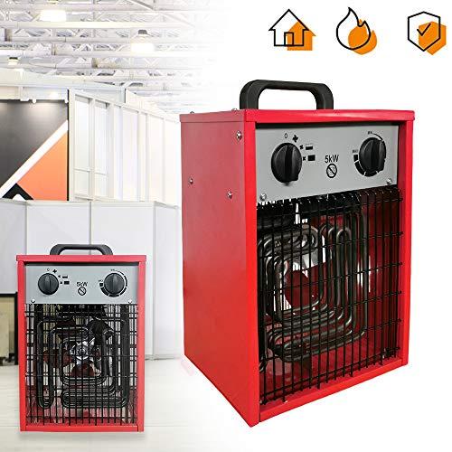 Calefactor eléctrico portátil portátil de Aufun, calefactor portátil con 3...