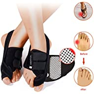 Bunion Correctors Night Time,HENYUE Hallux Valgus Bunion Brace with Adjustable Hook and Loop Toe Straighteners – for Bunion Correction Night Splint – Includes Free Ruler (M)