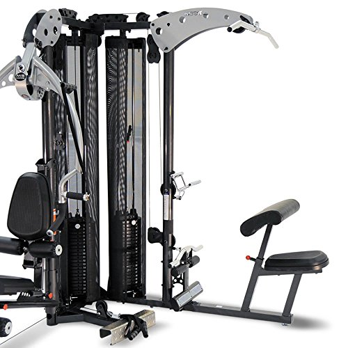 51b3%2B0N3wcL. SS500  - Inspire Fitness M5 Multi Gym - Fitness, Workout, Strengthen Muscle, Gym, Home, Aluminium, Revolving Lat Bar, L Shape Design, Commercial Use, Isolation Movements, Heavy Duty Tubular Steel Frame, Maintenance Free, Abdominal Bar