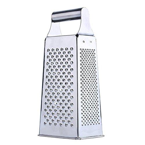 Vierkantreibe, Goodshop Kartoffelreibe Gurkenhobel Vierkantreibe mit Auffangbehälter, 4 Schneid-/Reibeflächen, Edelstahl Rostfrei Spülmaschinengeeignet