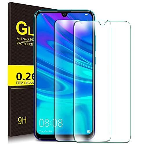 KuGi. für Huawei P smart 2019 Panzerglas, Huawei P smart 2019 Schutzfolie Huawei P smart+ 2019 Panzerglas Honor 20 Lite Panzerglas passt für Huawei P smart+ 2019 Phone. Klar [2 Pack]