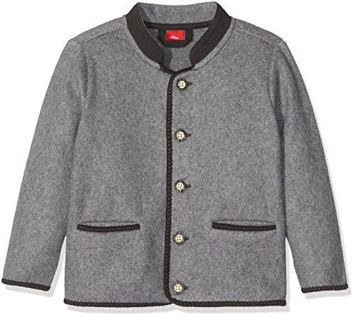 s.Oliver Jungen Sweatshirt 64.707.43.7874 Grau (Grey Melange 9730), 128 (Herstellergröße: 128/134) (Kinder Tracht)