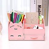 Porta pluma porta pluma multifuncional estudiantes de moda pluma caja de almacenamiento pequeña de escritorio para niños ( Color : Pink )