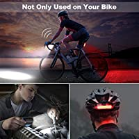 luce anteriore ricaricabile per B6G1 Luce per bici con clacson per bici 2in1