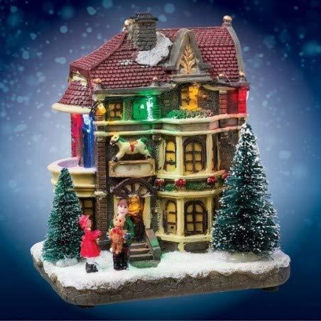Alcos Village Noël intérieur Lumineux Magasin Jouets