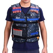 Gilet tactique enfants Elite veste camouflage avec fléchettes bullets balle chargeur recharge rapide lunettes protection pour Nerf Gun N-Strike Elite Series