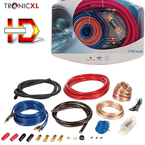 TronicXL 1500W Highend CAR HiFi Kabel Set Verstärker Endstufe Anschlusskabel PKW KFZ Auto Montage Cinchkabel RCA