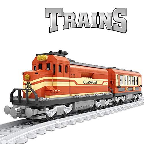 HLDX 630 + pcs City Track kleine Zug Spielzeug mit Track Jungen und mädchen Puzzle montiert bausteine   Spielzeug urban Modell Zug