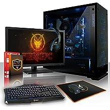 Fierce APACHE RGB PC Gamer Bundle - Rápido 4 x 4.2GHz Quad Core Intel Core i7 7700, 1TB Disco duro, 8GB de 2133MHz DDR4 RAM/Memoria, NVIDIA GeForce GTX 1050 2GB, HDMI, USB3, Wi-Fi, Perfecto para juegos competitivos, Windows no Incluido - Teclado (UK/QWERTY), Raton, monitor de 21.5 pulgadas, auriculares, Garantía De 3 Años, (462822)