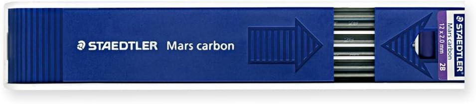 Staedtler Mars Carbon 2 MM Black 2B Leads (Pack Of 12)