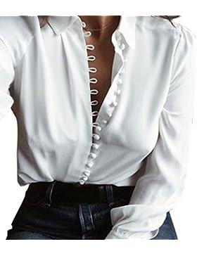 lifetrend Mujer Blusa De Manga Larga Botones Camisetas De Baratas EN Oferta Blusas De Mujer Elegantes De Fiesta...