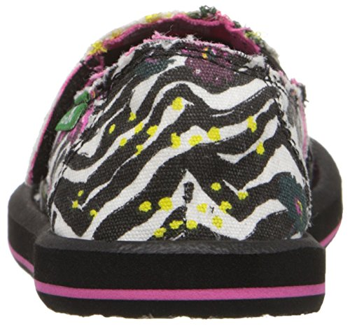 Sanuk Kids Scribble II Youth Sidewalk Surfer (Little Kid/Big Kid) Zebra Floral
