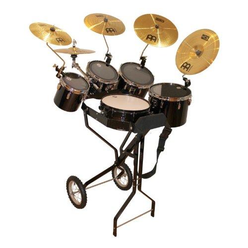 Schlagzeugwagen mit Snare, 4 Toms, 1 Hi-Hat, 4 Becken