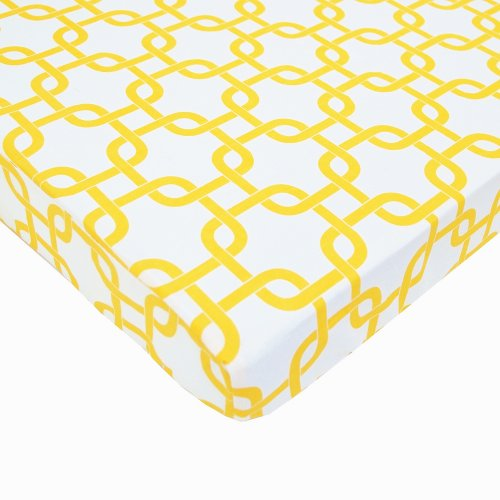 American Baby Company 100% Cotton Percale Fitted Portable/Mini Crib Sheet, Golden Yellow Twill Gotcha by American Baby Company