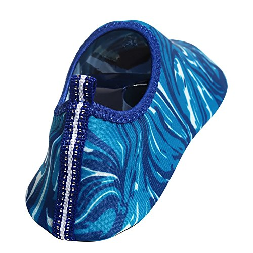 Wassersportschuhe Liebspaar Unisex Schwimmschuhe Schnelltrockende Strandschuhe Wasserschuhe Badeschuhe Surfschuhe Aquaschuhe für Erwachsene 12 Motiven EU 35-44 zur Wahl Muster 4