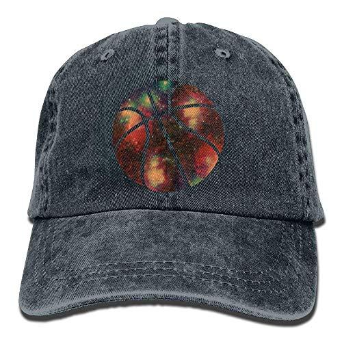 Hoswee Unisex Kappe/Baseballkappe, Galaxy Basketball Denim Hat Adjustable Womens Stretch Baseball Cap Jordan Stretch-cap